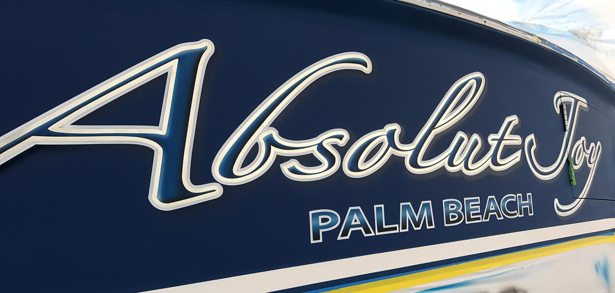 Absolut-Joy-Palm-Beach-Florida-Boat-Transom-lettering-secondary-outline