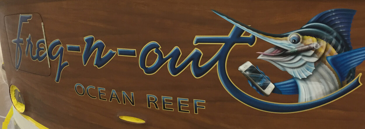 Freq-n-out-Ocean-Reef-Boat-Transom-3d-highlight-shadow-letter-style