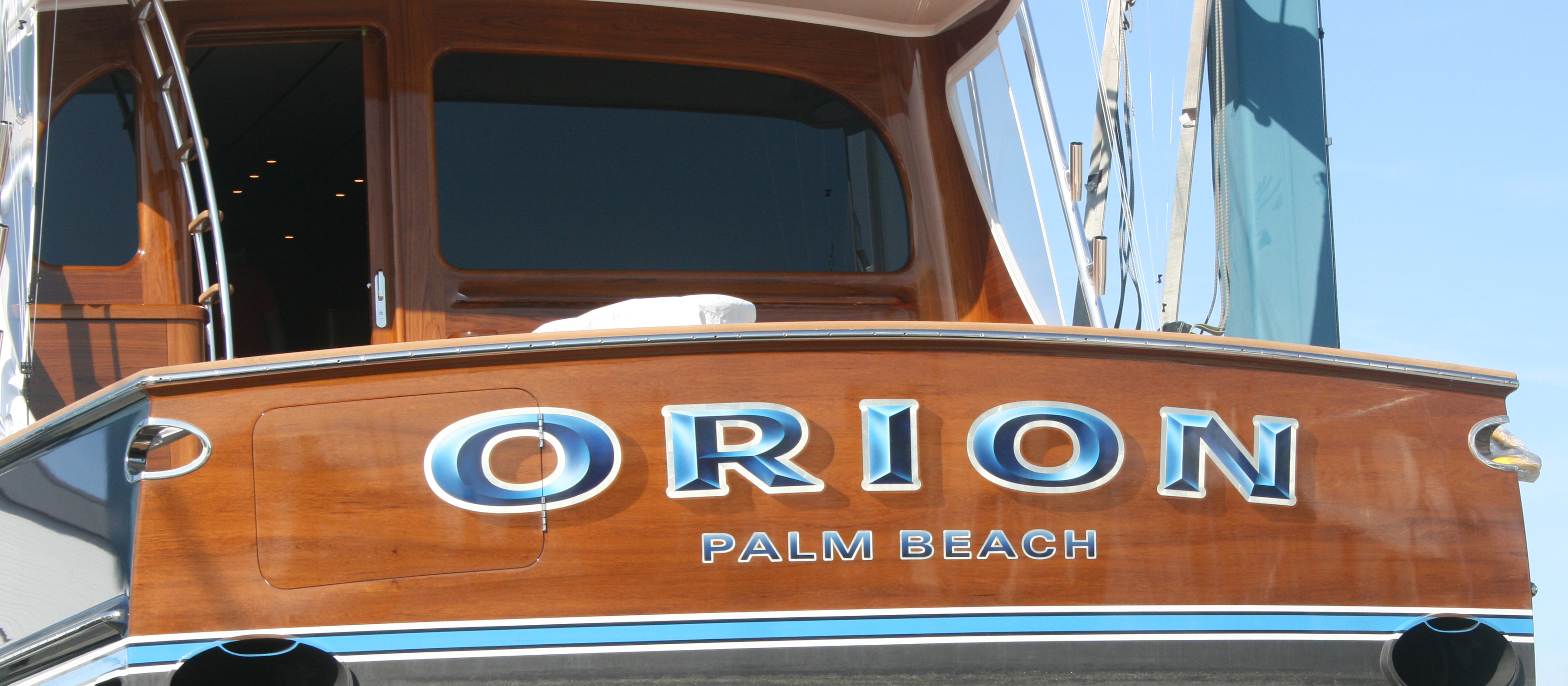 Orion-Palm-Beach-Florida-Boat-Transom-name-design-bevel-letters